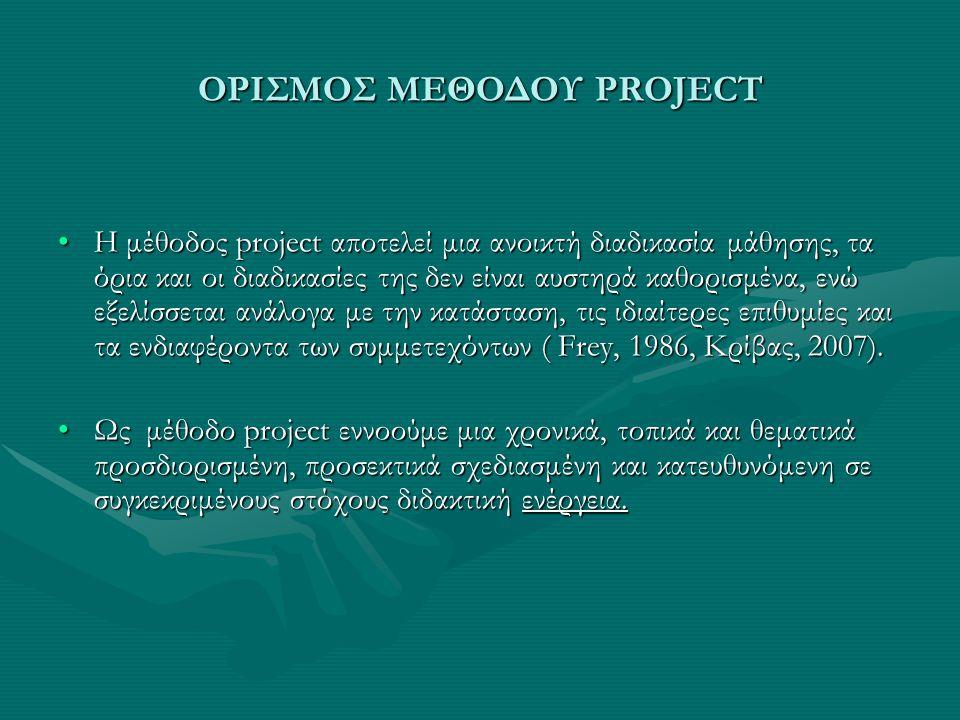 ΟΡΙΣΜΟΣ ΜΕΘΟΔΟΥ PROJECT