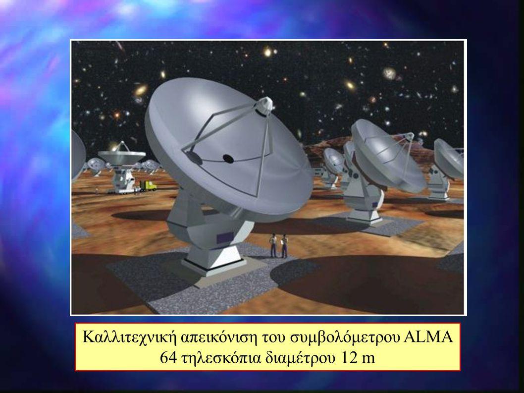 Καλλιτεχνική απεικόνιση του συμβολόμετρου ALMA