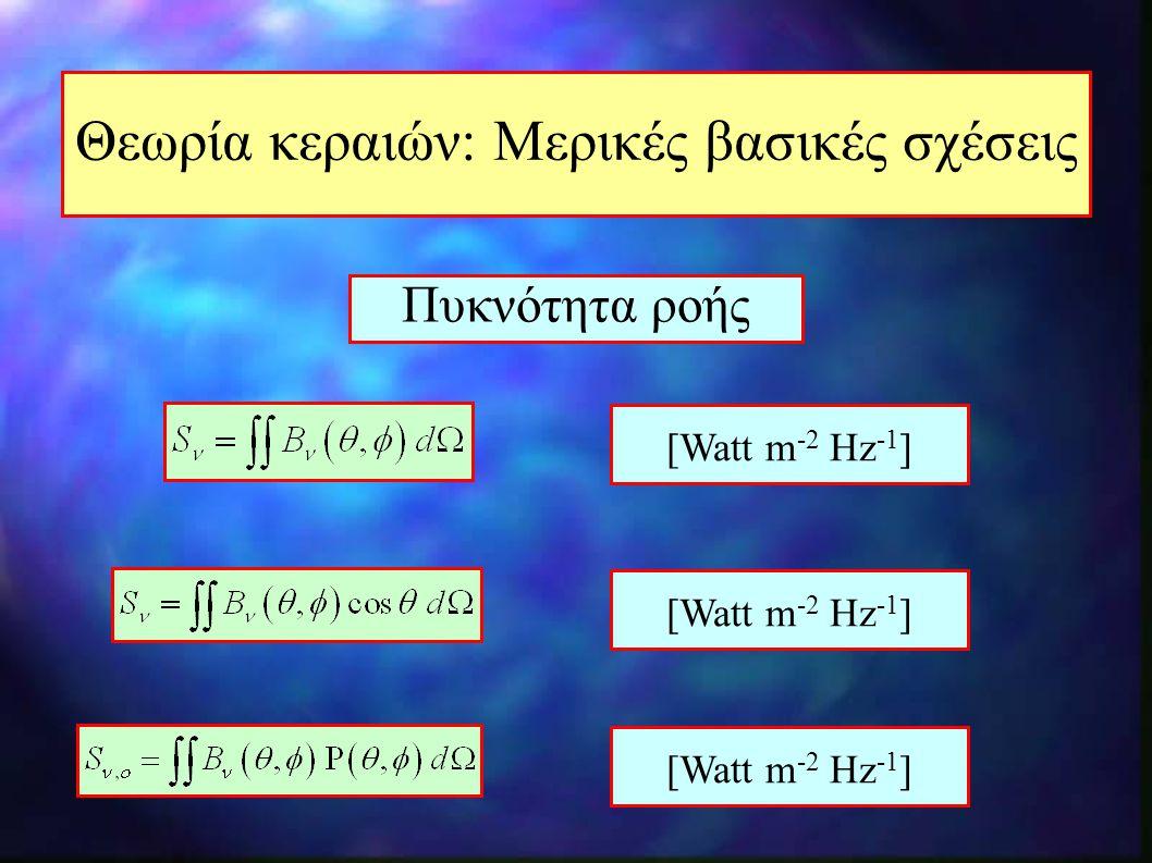 Θεωρία κεραιών: Μερικές βασικές σχέσεις