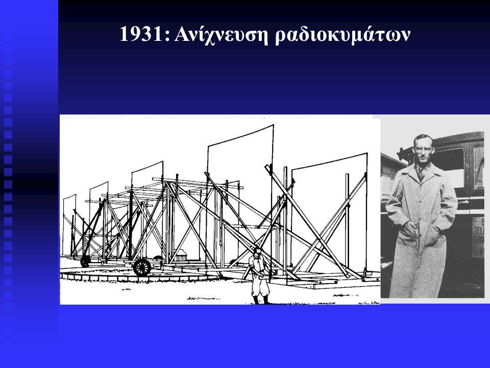 1931: Ανίχνευση ραδιοκυμάτων