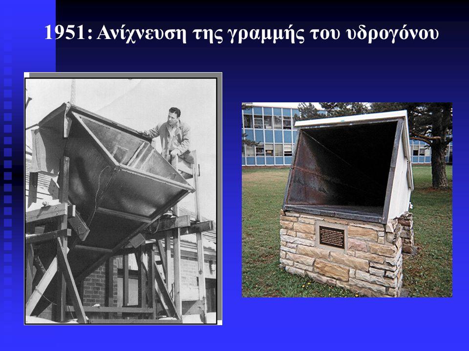 1951: Ανίχνευση της γραμμής του υδρογόνου