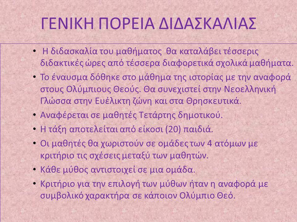 ΓΕΝΙΚΗ ΠΟΡΕΙΑ ΔΙΔΑΣΚΑΛΙΑΣ