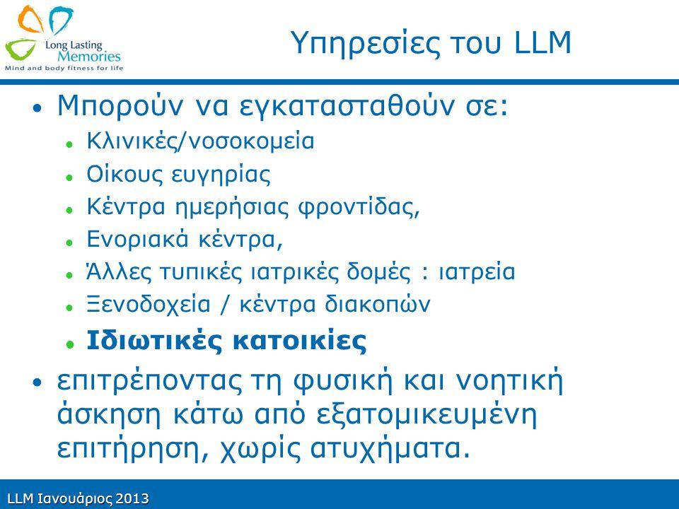Υπηρεσίες του LLM Μπορούν να εγκατασταθούν σε: