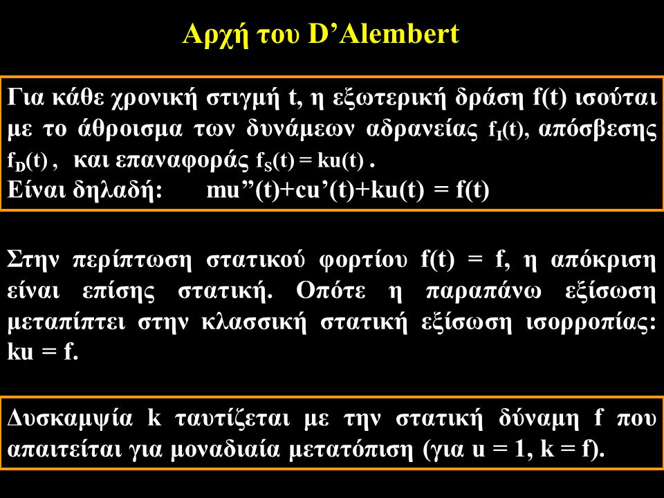 Αρχή του D'Alembert