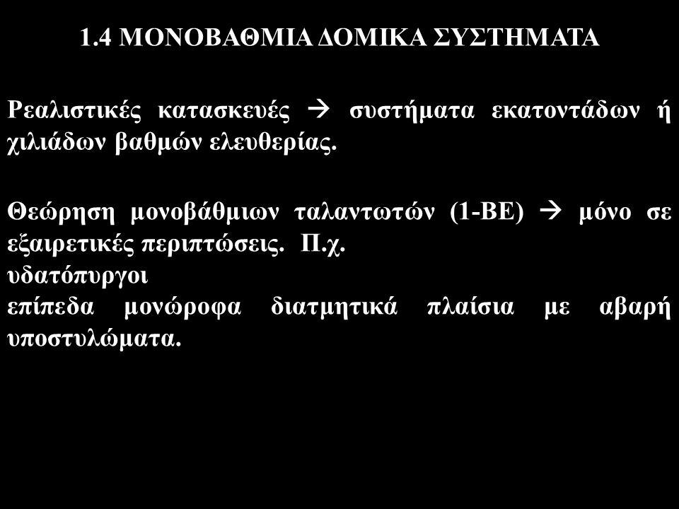 1.4 ΜΟΝΟΒΑΘΜΙΑ ΔΟΜΙΚΑ ΣΥΣΤΗΜΑΤΑ