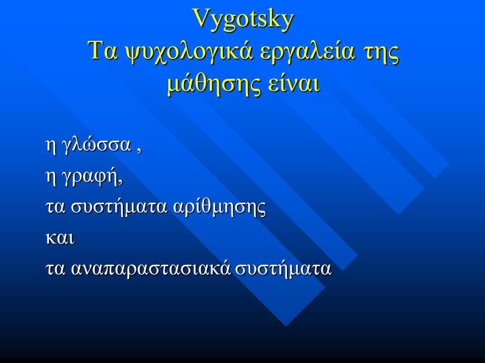 Vygotsky Τα ψυχολογικά εργαλεία της μάθησης είναι