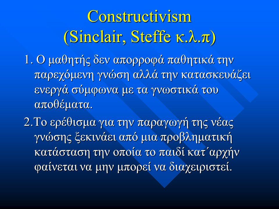 Constructivism (Sinclair, Steffe κ.λ.π)