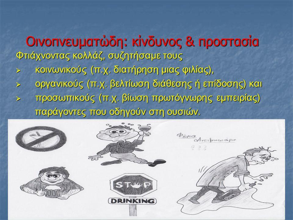 Οινοπνευματώδη: κίνδυνος & προστασία