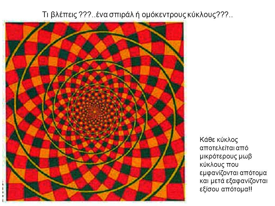 Τι βλέπεις ..ένα σπιράλ ή ομόκεντρους κύκλους ..