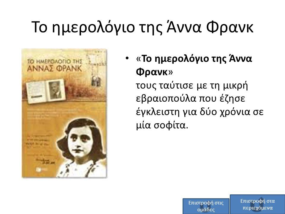 Το ημερολόγιο της Άννα Φρανκ