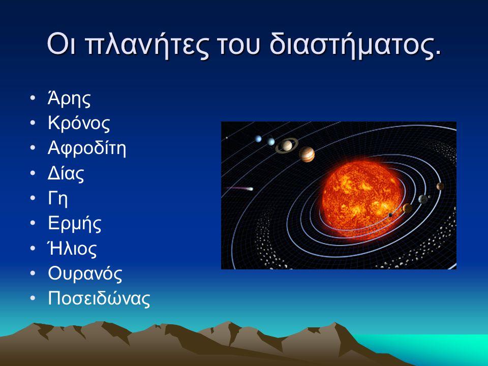 Οι πλανήτες του διαστήματος.