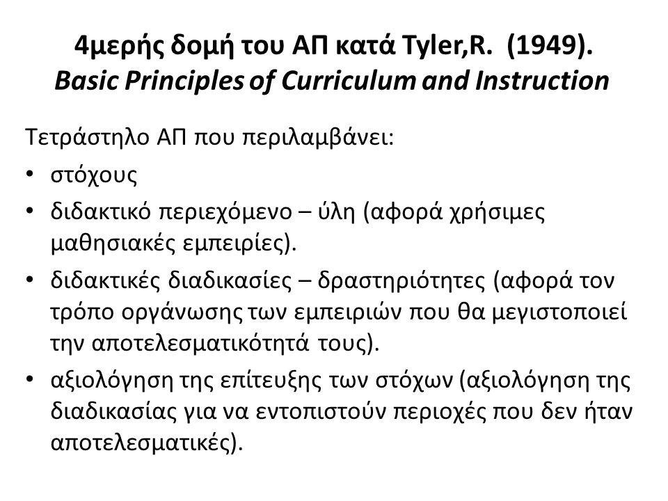 4μερής δομή του ΑΠ κατά Tyler,R. (1949)