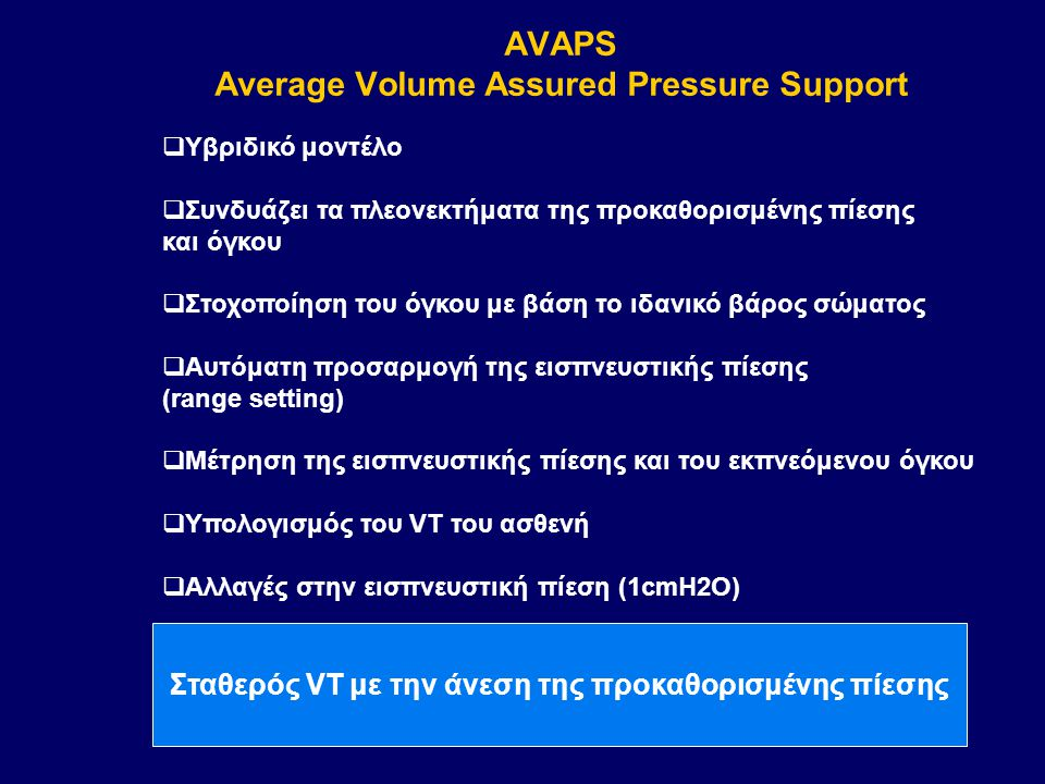 AVAPS Average Volume Assured Pressure Support