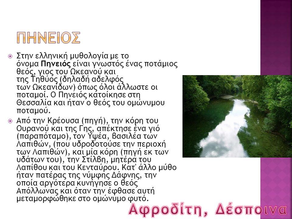 ΠΗΝΕΙΟΣ Αφροδίτη, Δέσποινα