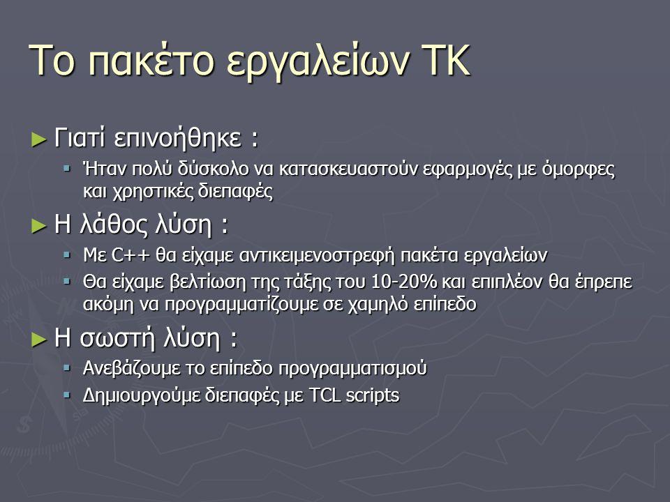 Το πακέτο εργαλείων TK Γιατί επινοήθηκε : Η λάθος λύση :