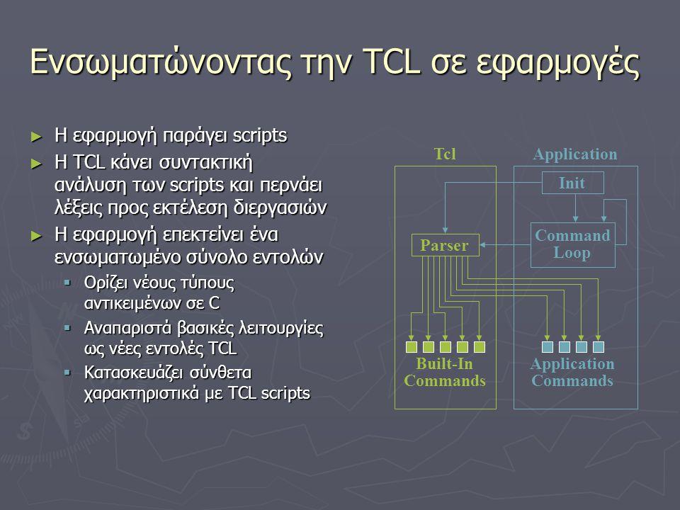 Ενσωματώνοντας την TCL σε εφαρμογές