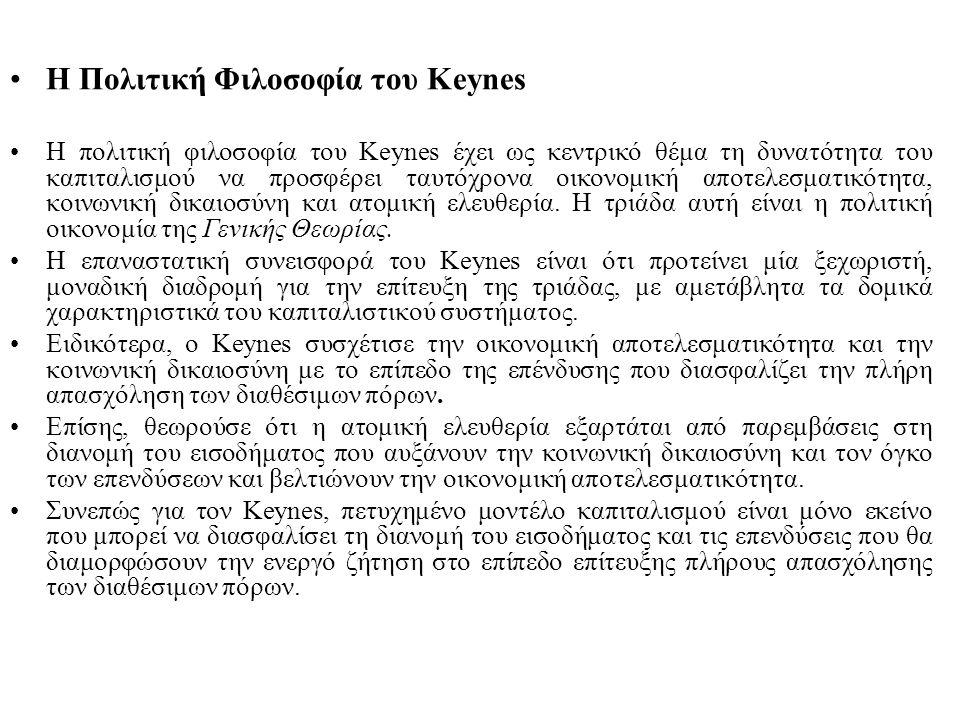 Η Πολιτική Φιλοσοφία του Keynes