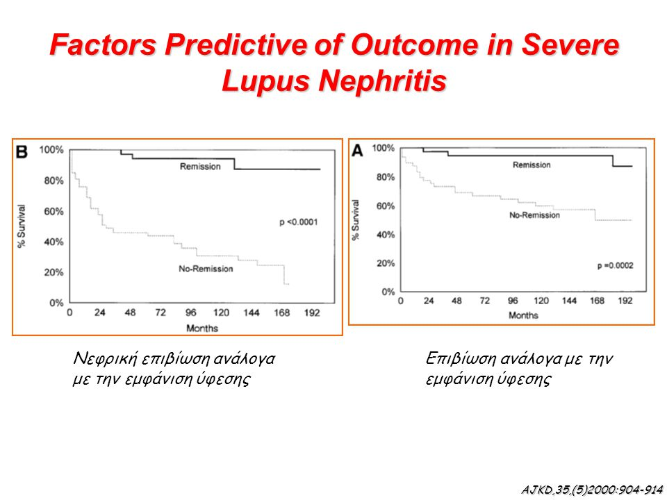 Factors Predictive of Outcome in Severe Lupus Nephritis