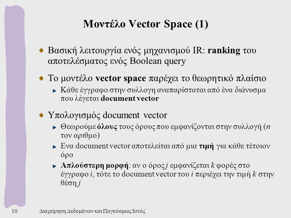 Μοντέλο Vector Space (1)