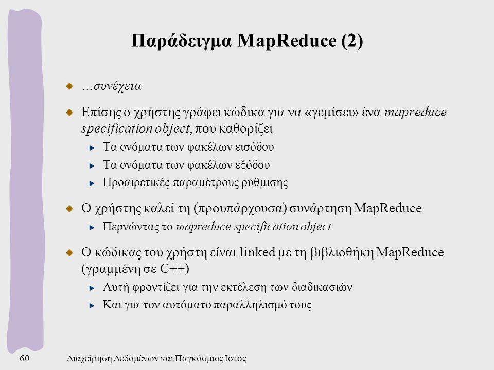 Παράδειγμα MapReduce (2)