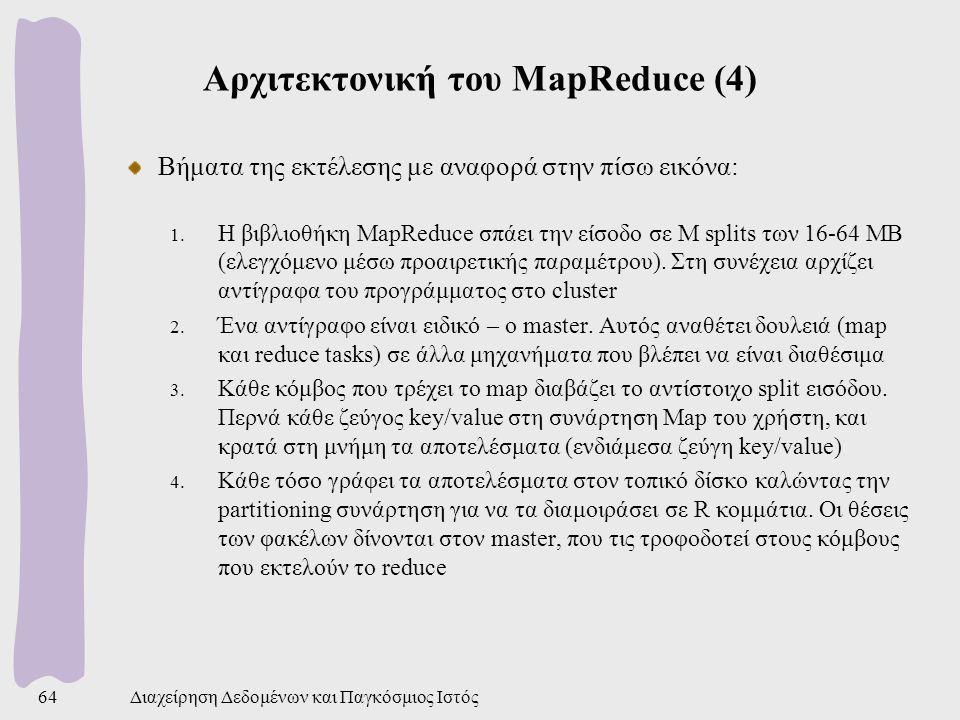 Αρχιτεκτονική του MapReduce (4)