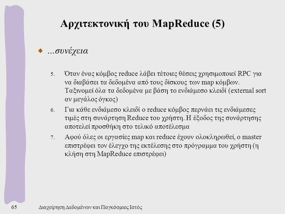 Αρχιτεκτονική του MapReduce (5)