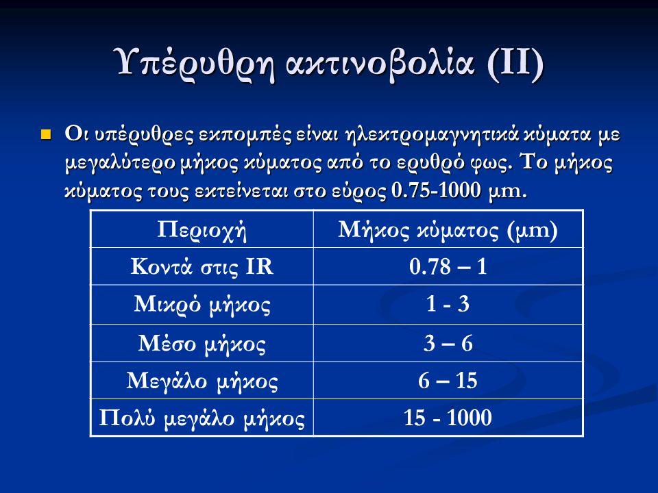 Υπέρυθρη ακτινοβολία (ΙΙ)