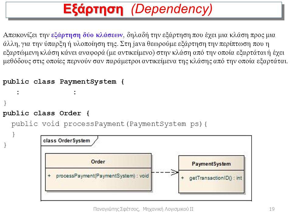 Εξάρτηση (Dependency)