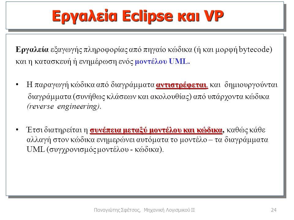 Εργαλεία Eclipse και VP