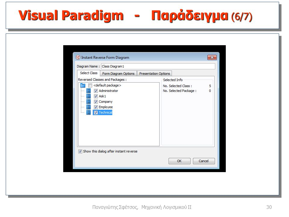 Visual Paradigm - Παράδειγμα (6/7)
