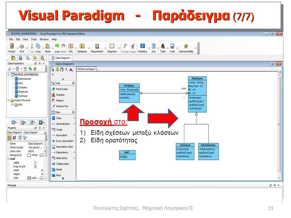 Visual Paradigm - Παράδειγμα (7/7)