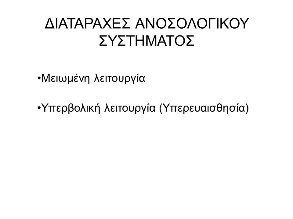 ΔΙΑΤΑΡΑΧΕΣ ΑΝΟΣΟΛΟΓΙΚΟΥ ΣΥΣΤΗΜΑΤΟΣ
