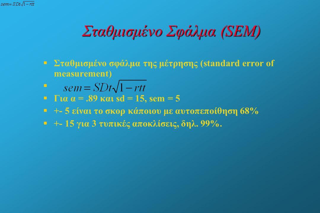 Σταθμισμένο Σφάλμα (SEM)
