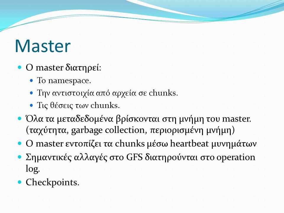 Master Ο master διατηρεί: