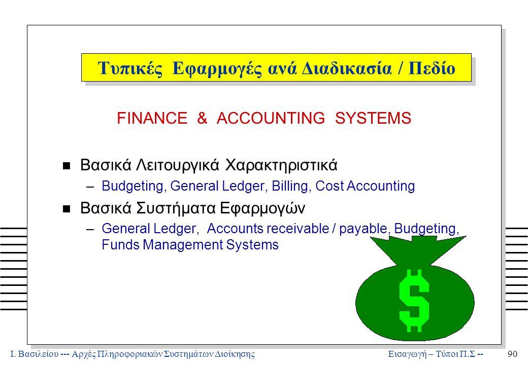 Λογιστική: Πληροφοριακά Συστήματα Διοίκησης