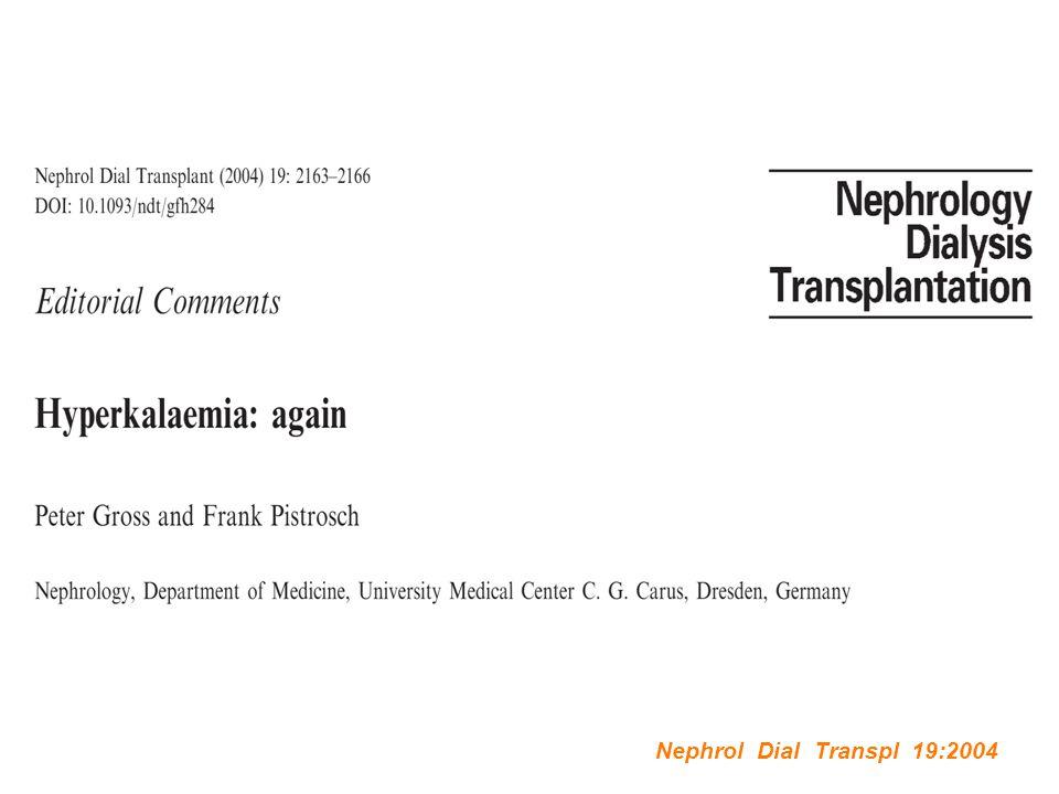 Nephrol Dial Transpl 19:2004