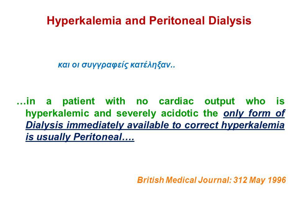 Hyperkalemia and Peritoneal Dialysis