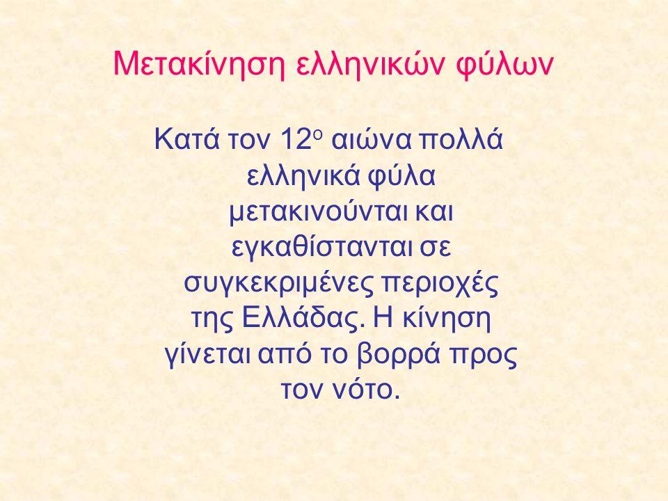 Μετακίνηση ελληνικών φύλων