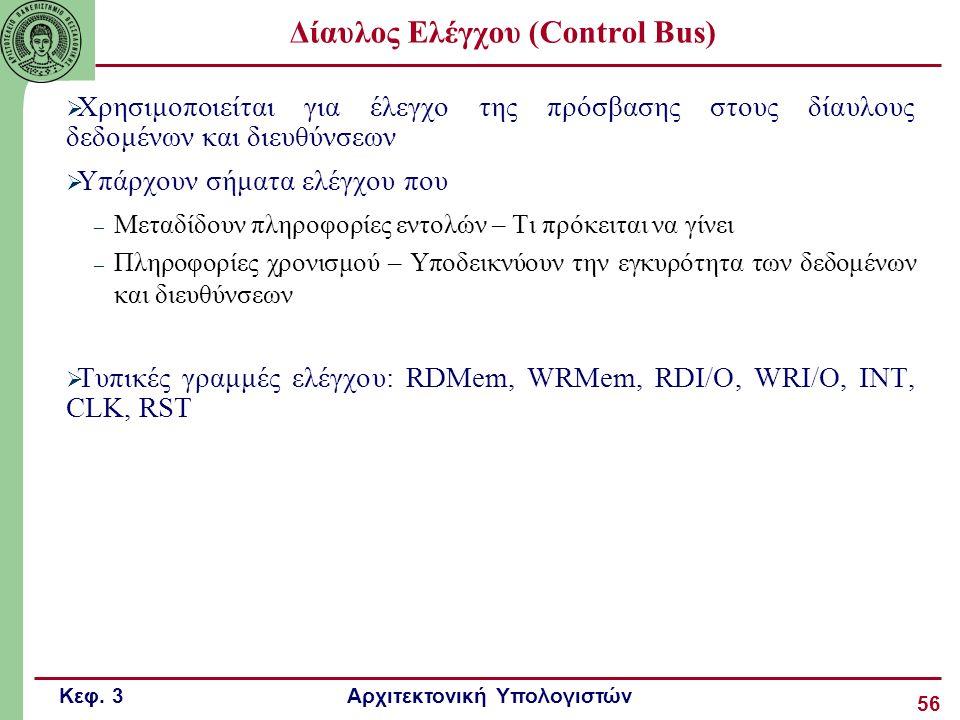Δίαυλος Ελέγχου (Control Bus)