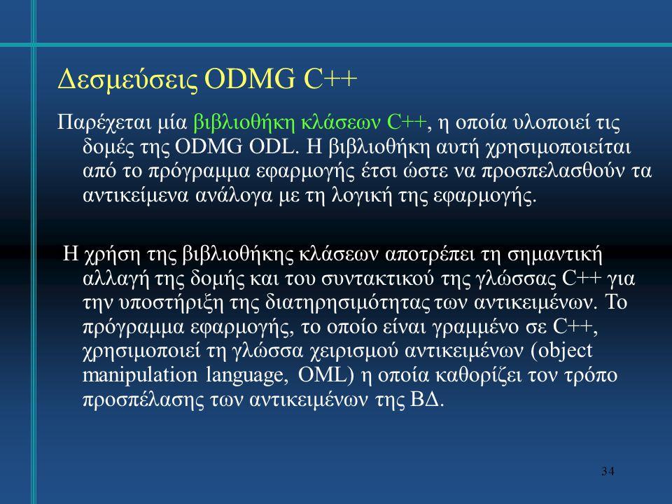 Δεσμεύσεις ODMG C++