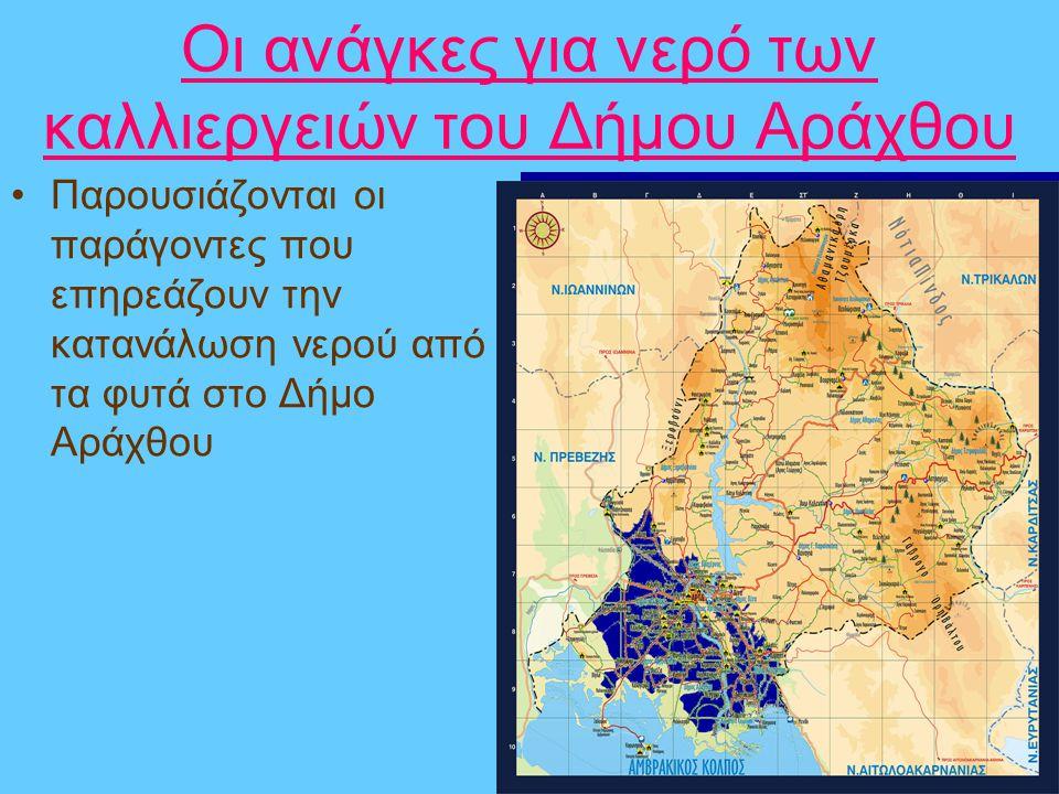 Οι ανάγκες για νερό των καλλιεργειών του Δήμου Αράχθου