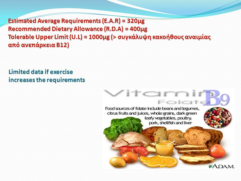 Estimated Average Requirements (E. A