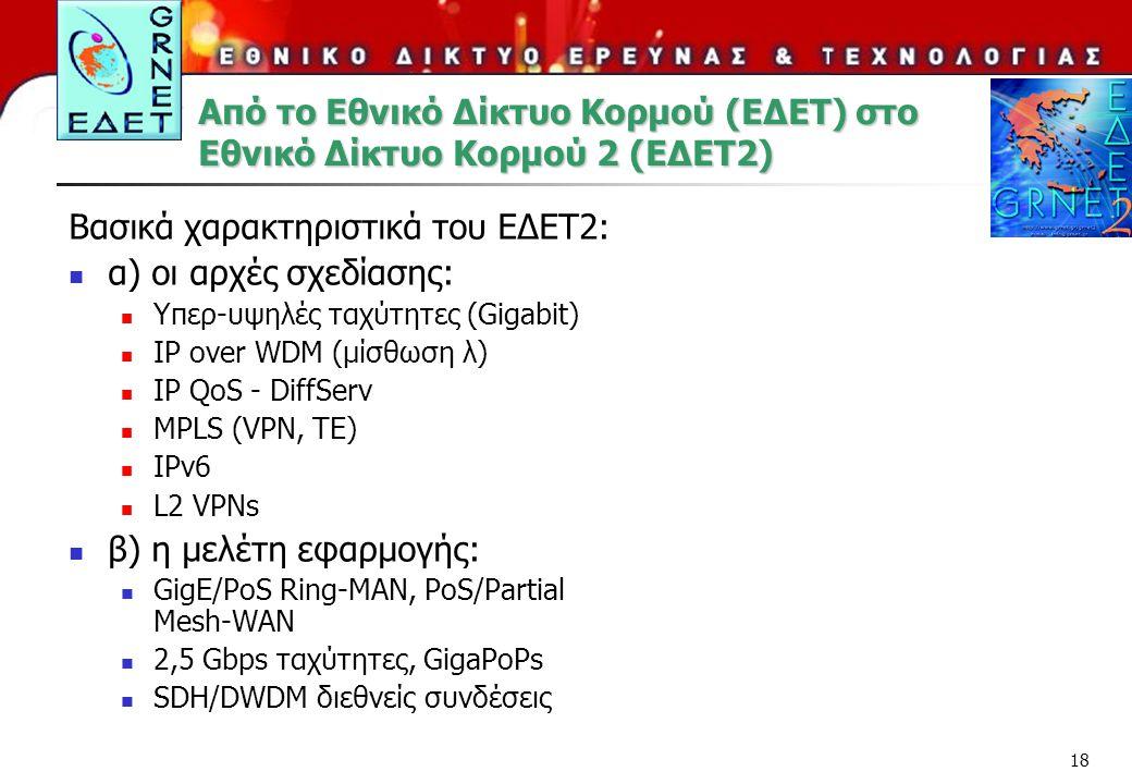 Από το Εθνικό Δίκτυο Κορμού (ΕΔΕΤ) στο Εθνικό Δίκτυο Κορμού 2 (ΕΔΕΤ2)