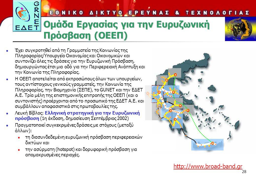 Ομάδα Εργασίας για την Ευρυζωνική Πρόσβαση (ΟΕΕΠ)