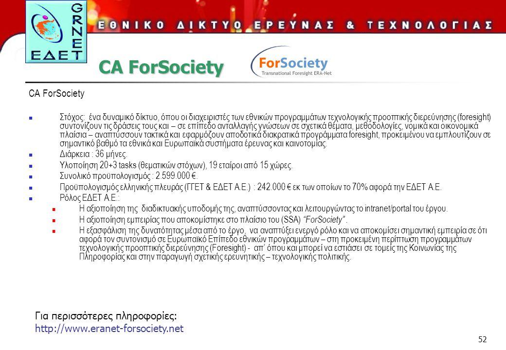 CA ForSociety CA ForSociety