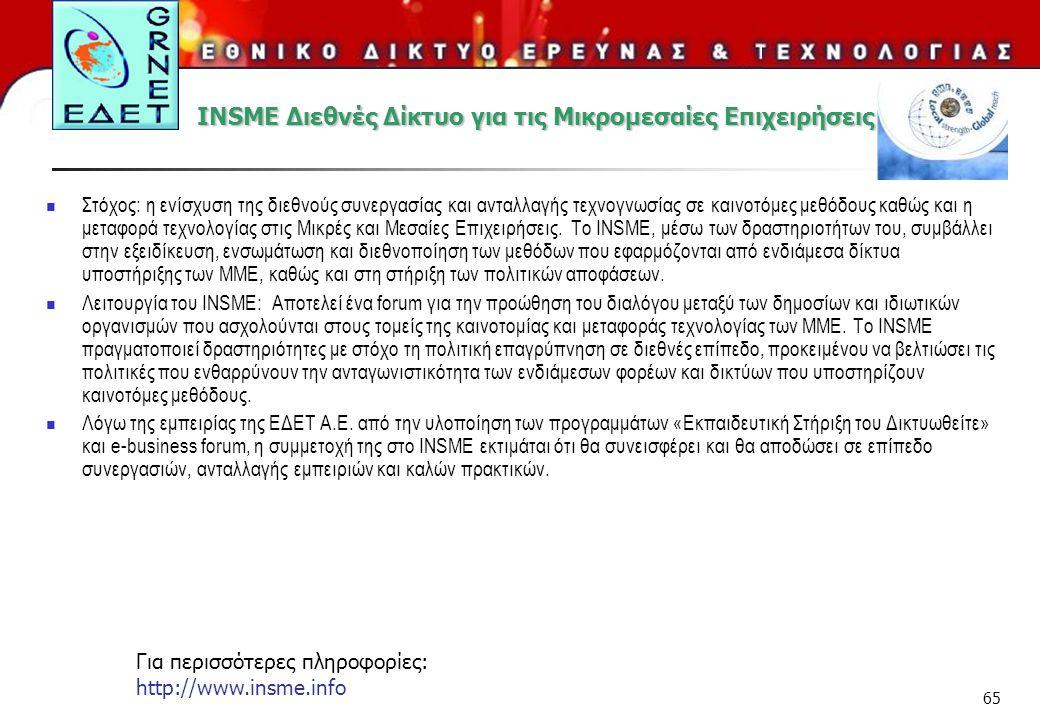 INSME Διεθνές Δίκτυο για τις Μικρομεσαίες Επιχειρήσεις