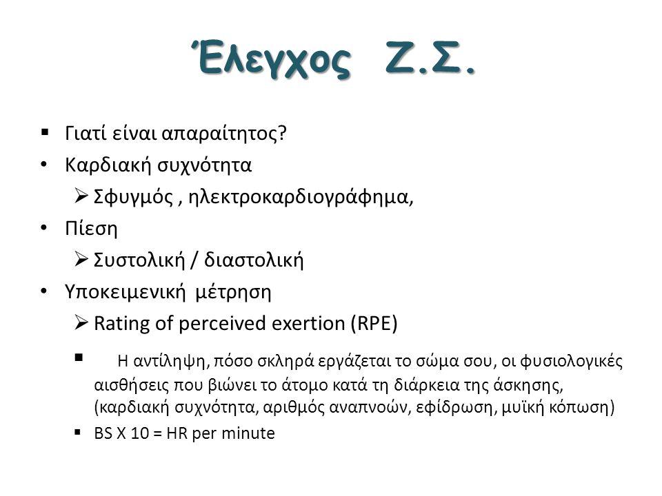 Έλεγχος Ζ.Σ. Γιατί είναι απαραίτητος Καρδιακή συχνότητα. Σφυγμός , ηλεκτροκαρδιογράφημα, Πίεση.