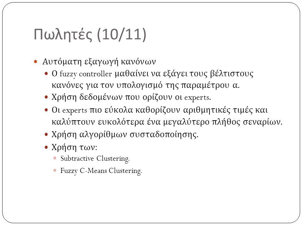 Πωλητές (10/11) Αυτόματη εξαγωγή κανόνων
