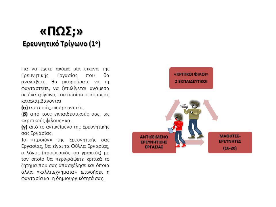 Ερευνητικό Τρίγωνο (1ο)