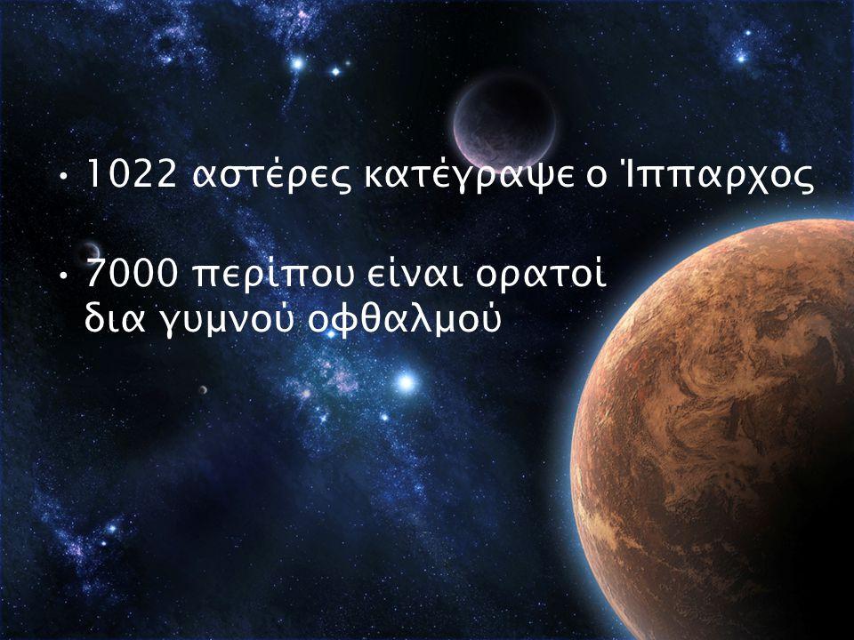 1022 αστέρες κατέγραψε ο Ίππαρχος